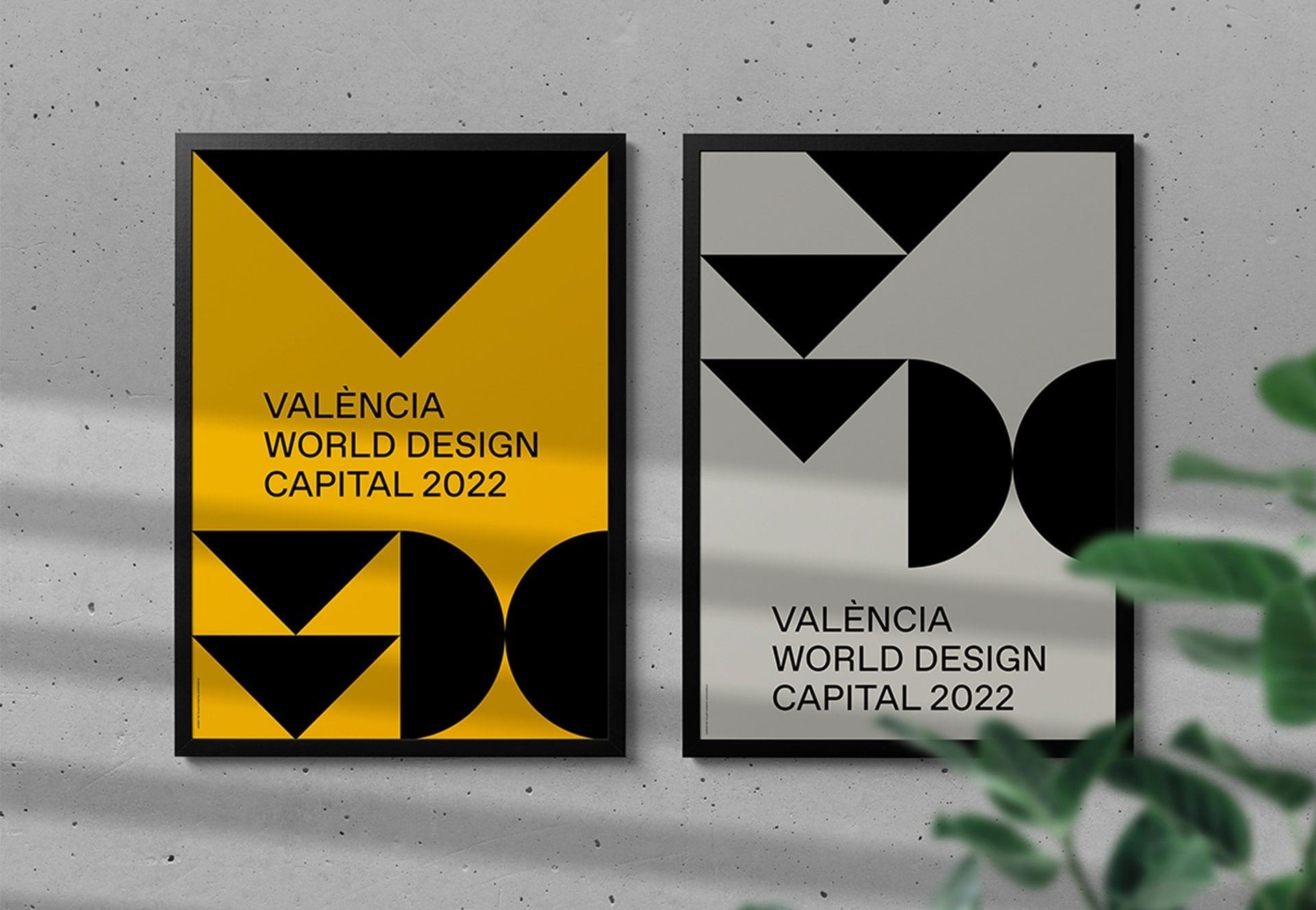 Or amb el cartell de València Capital Mundial del Disseny 2022 als Graphis