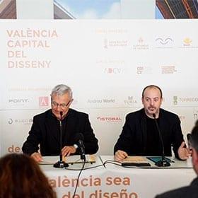 <p>Anunci amb l'Alcalde de València que la ciutat es postularà a convertir-se en Capital Mundial del Disseny.</p>