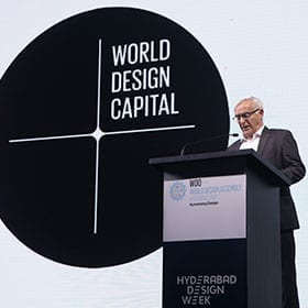 <p>Trip to India to the World Design Assembly to collect the baton for World Design Capital in 2022.</p>