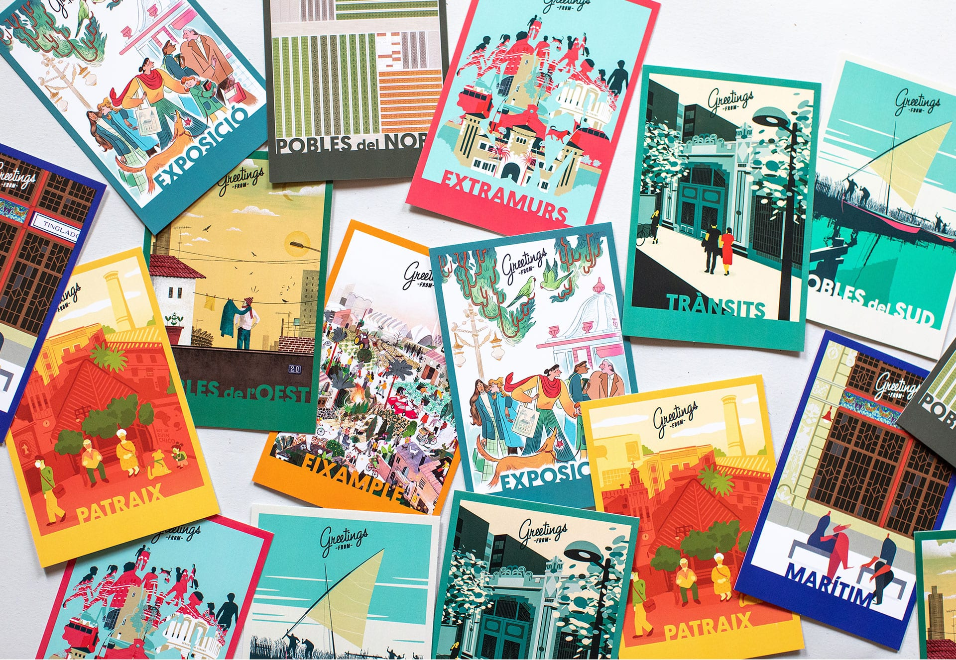 'Greetings from…', postcards to send those hugs we won't be able to give this year