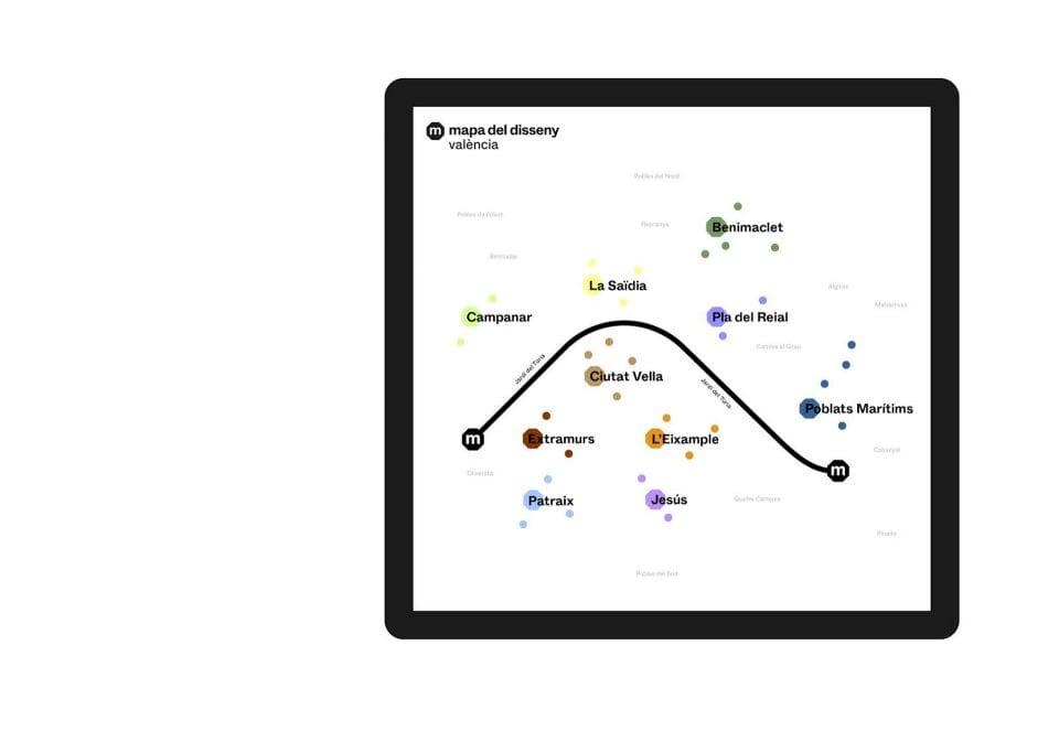 Mapa del Disseny: los espacios la ciudad de València reconocidos por su diseño