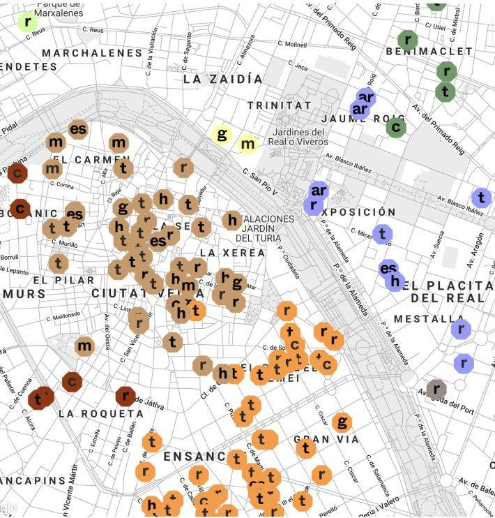 Mapa del Disseny: geolocalización de los espacios de diseño de la ciudad de València